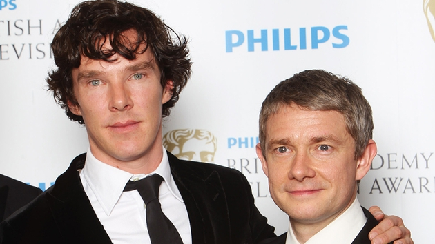 Cumberbatch and Freeman - Soon to be reunited on screen