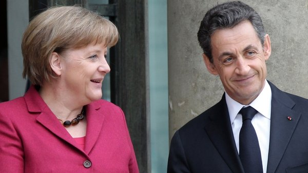 Angela Merkel & Nicolas Sarkozy - Meeting ahead of eurozone summit