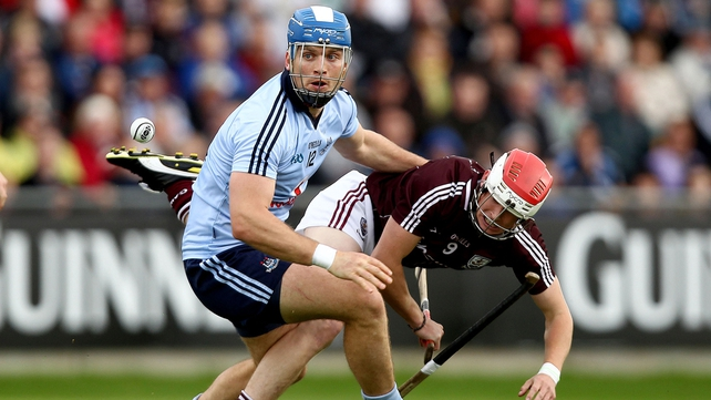 Conal Keaney of Dublin breaks away from Galway's Barry Daly