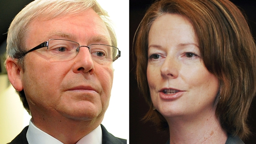Kevin Rudd & Julia Gillard - Pair reportedly have a 'frosty' relationship