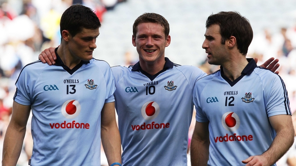 (Left to right): Diarmuid Connolly, Paul Flynn and Bryan Cullen