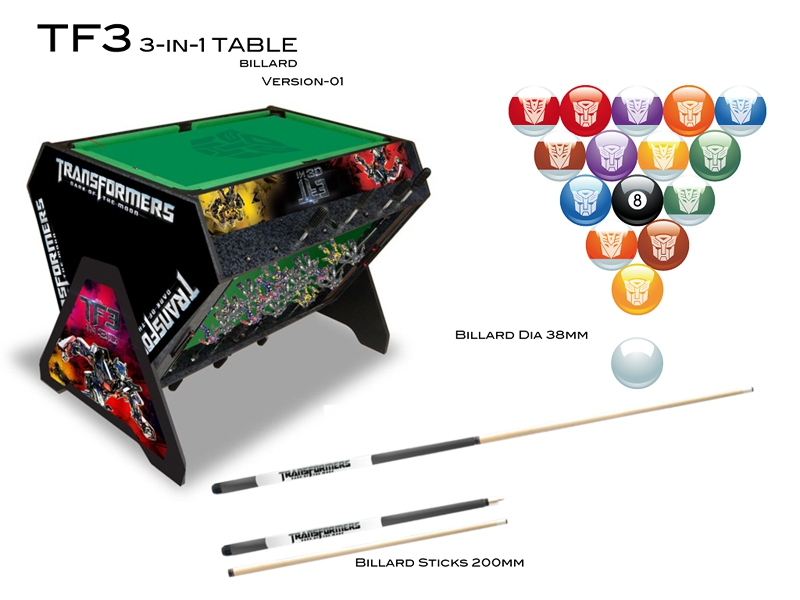 Transformers 3 In 1 Gaming Table