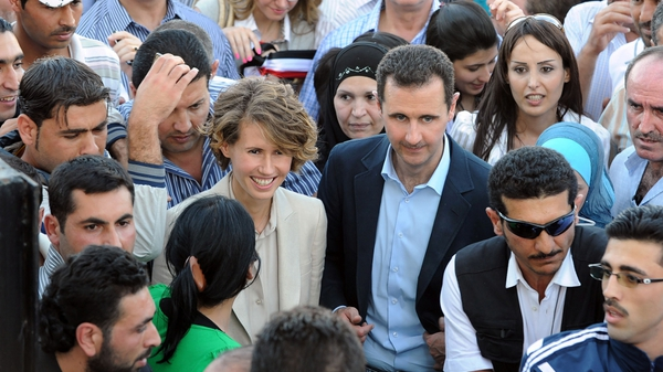 Al-Assad - Meets supporters while thousands continue protesting his rule