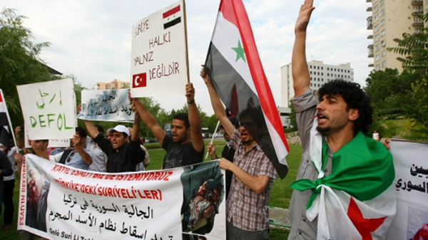 Syrian protesters - Pressure grows on Bashar al-Assad