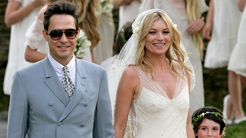 Kate Moss dazzles in Galliano gown