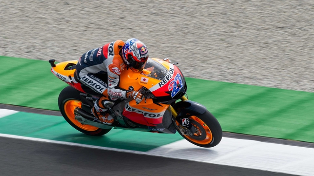 Casey Stoner is currently in second place in the championship standings