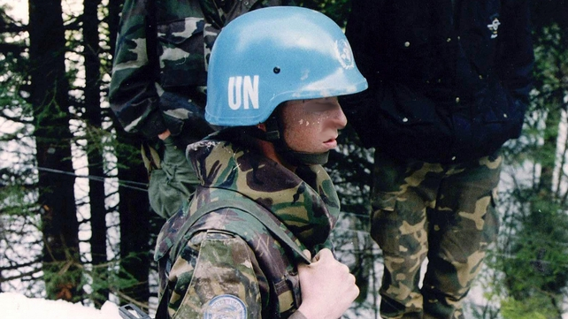 Relatives accused Dutch UN peacekeepers of failing to protect the 8,000 men and boys