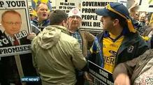 Nine News: 1,000 people protest Roscommon hospital plan