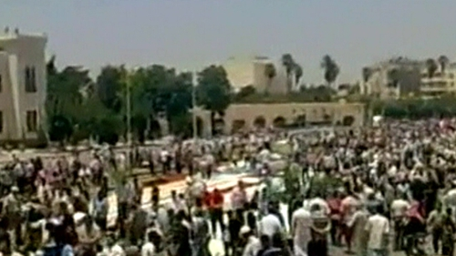 Hama - 'No to dialogue' protest