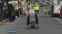 Nine News: Protests over Roscommon hospital