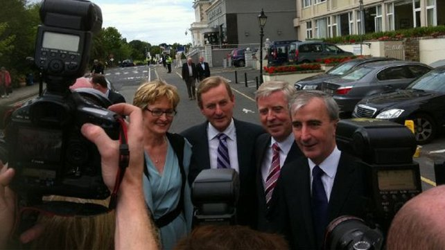 Fine Gael - Candidates pose with leader Enda Kenny outside the Regency Hotel in Dublin