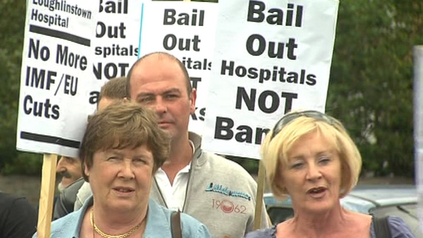 Loughlinstown - Protest over planned cuts