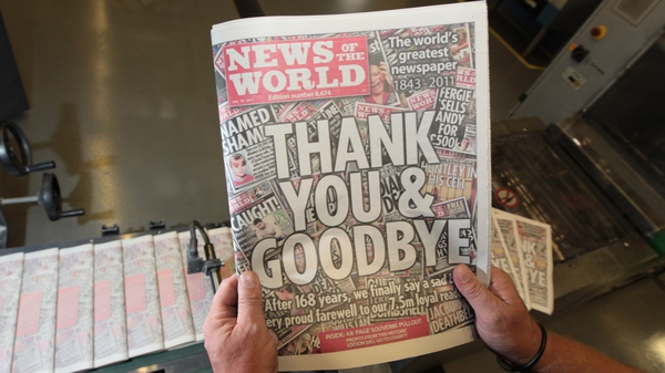News of the World - 8,674th and final edition of newspaper published today