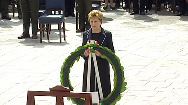 Mary McAleese - Laid wreath at ceremony in Kilmainham