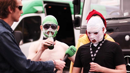 The Rubberbandits talk to RTÉ at Oxegen
