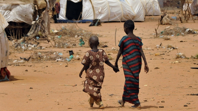 Refugees at the Dadaab refugee camp