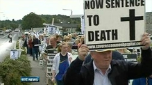 Six One News: Hundreds protest at Roscommon unit closure
