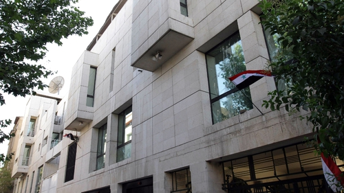 French embassy, Damascus - Attacked by pro al-Assad supporters