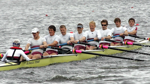 NUIG crew who retained their senior eight title at the Irish Rowing Championships in 2010