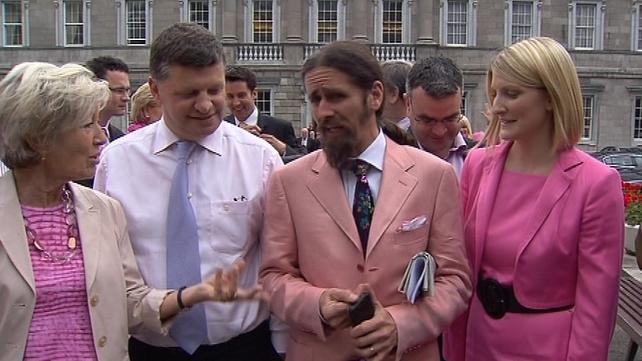 Luke 'Ming' Flanagan - Independent TD wore a fancy pink jacket