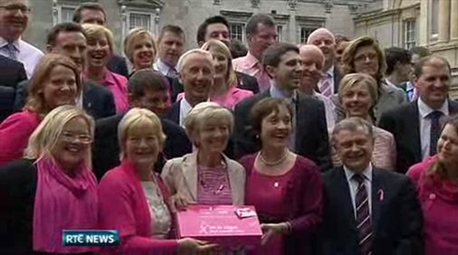 Nine News: Politicians wear pink for cancer awareness