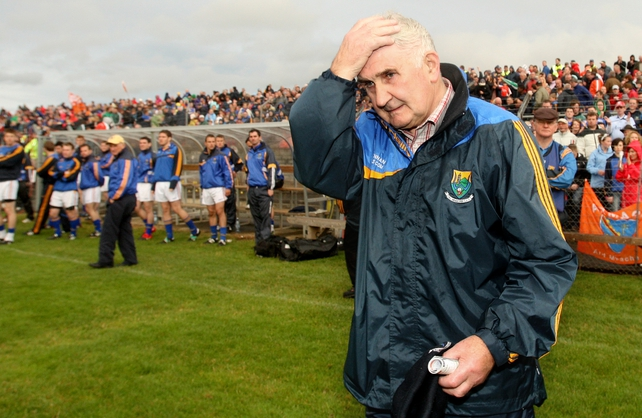 Mick O'Dwyer was left dejected at full-time