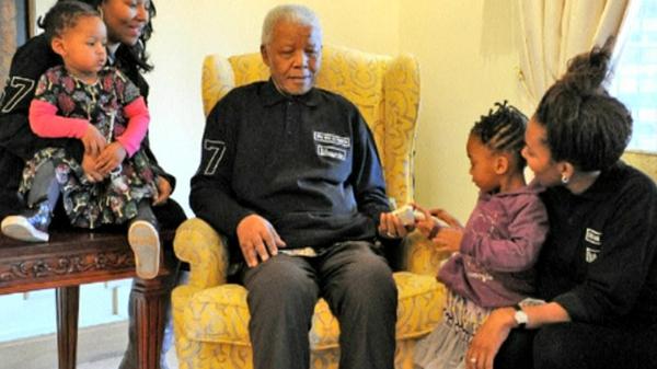 Nelson Mandela celebrating his 94th birthday last July