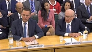 Rupert and James Murdoch appeared before a British parliamentary committee in July 2011