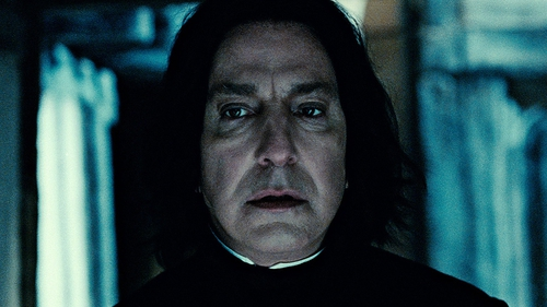 Rickman as as Severus Snape
