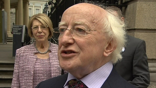 Michael D Higgins is Labour's candidate in the Presidential race
