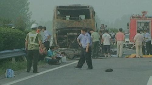 China - Hazardous goods caught fire