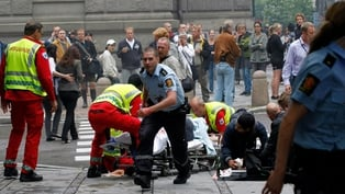 Emergency services on the scene in Oslo