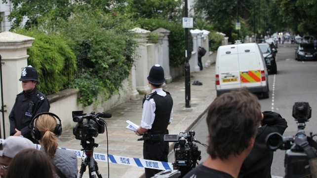 Amy Winehouse - Police outside singer's house today