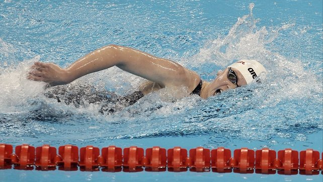 Sycerika McMahon - In 400m freestyle action in Shanghai
