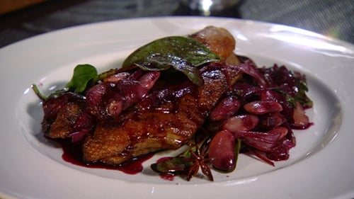 Entertain in style with this sumptuous duck recipe, Duck Leg with Butter Beans and Red Chard.