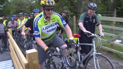 Enda Kenny taking part in a previous cycle event