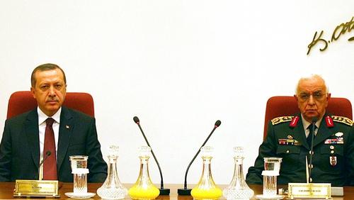 Turkey - Isik Kosaner (r) with Recep Tayyip Erdogan (l)
