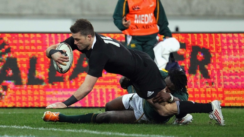Cory Jane - Scores the second of his two tries against the Springboks