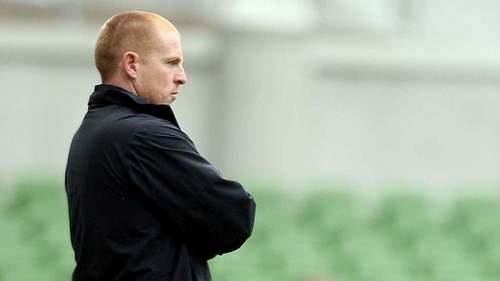 Neil Lennon watched from the stands as his side claimed a 3-0 win
