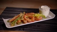 Tempura of Vegetables with Sour Cream Dip - It's important not to over-mix the batter.