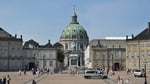 The great rococo architecture of Amalienborg Palace