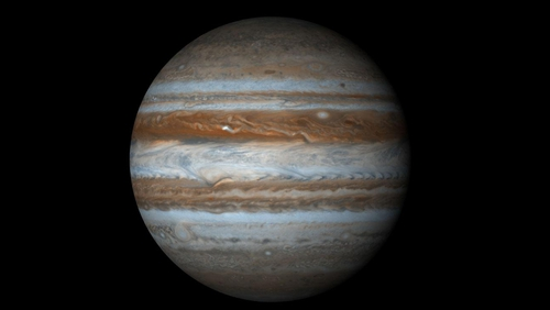 Jupiter will look like an extremely bright 'star' next to the moon (Pic: NASA)