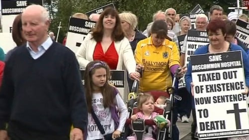 Roscommon - 500 people protested on Saturday