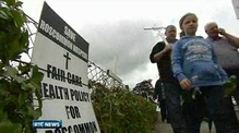 Six One News: Protest in Roscommon over hospital