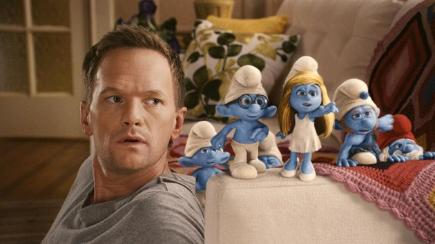 The Smurfs don't get the best out of actor Harris, however