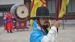 A guard at Gyeongbokgung Palace