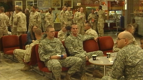 US troops - On stop over in Shannon Airport