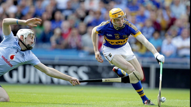 Tipperary's Lar Corbett on his way to scoring the only goal of the match