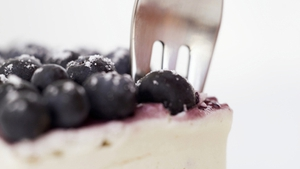 Donal Skehan's Blueberry and White Chocolate Cheesecake