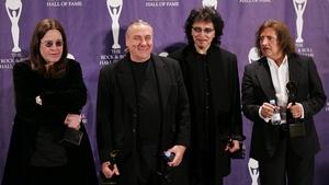 Black Sabbath with original drummer Bill Ward (second left)